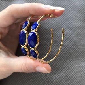 Fast sale⭐️Hoops with lapis lazuli